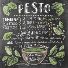 Gallery print  Pesto recept (Engels) - Lily & Val