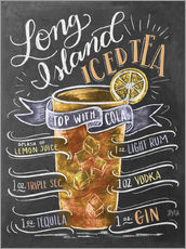 Muursticker  Long Island Ice Tea recipe - Lily & Val