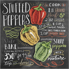 Muursticker  Stuffed peppers recipe - Lily & Val