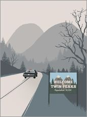 Gallery print  Alternative welcome to twin peaks art print - 2ToastDesign