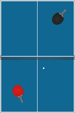 Gallery print  Table tennis match