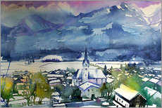 Muursticker  Pinzgau, first snow in Piesendorf - Johann Pickl