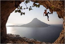 Muursticker  Climber on the Kalymnos island, Greece