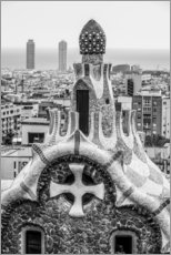 Muursticker  Impressive architecture and mosaic art at Park Guell