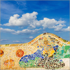 Gallery print  Mosaic in the Park Güell