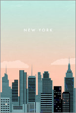 Muursticker  Illustration of New York - Katinka Reinke