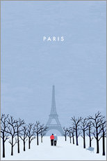 Muursticker  Illustration of Paris - Katinka Reinke