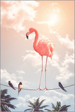 Gallery print  Flamingo and Friends - Jonas Loose