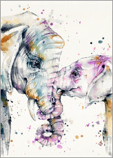 Gallery print  That type of love (elephants) - Sillier Than Sally