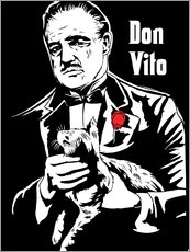 Gallery print  Don Vito Corleone the godfather art print - 2ToastDesign