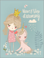 Acrylglas print  Never stop dreaming - Kidz Collection