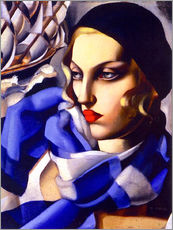 Muursticker  The blue scarf - Tamara de Lempicka