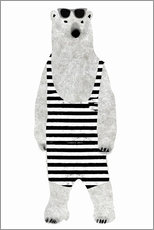 Gallery print  Polar bear in a bathing suit
