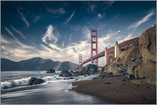 Gallery print  Beach and Golden Gate Bridge - Westend61