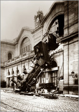 Muursticker  Train accident at the Montparnasse station, Paris - John Parrot