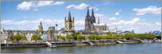 Muursticker  Cologne Rheinufer with cathedral and town hall - Jan Christopher Becke
