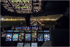 Gallery print  A380 Cockpit on the Runway - Ulrich Beinert