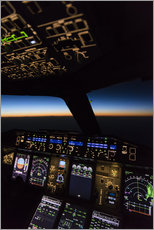 Gallery print  Airbus A380 Cockpit at twilight - Ulrich Beinert