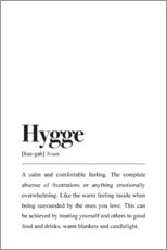 Gallery print  Hygge definitie (Engels) - Johanna von Pulse of Art