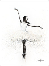 Hout print  The white swan - Ashvin Harrison