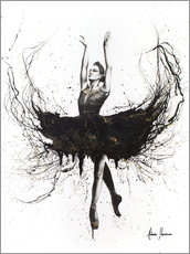 Aluminium print  The black swan - Ashvin Harrison