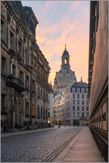 Acrylglas print  Frauenkirche Dresden in the morning light - Robin Oelschlegel
