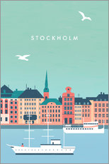 Acrylglas print  Illustration of Stockholm - Katinka Reinke