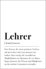 Canvas print  Lehrer Definition (German) - Pulse of Art