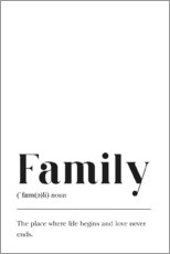 Acrylglas print  Family Definition (Engels) - Pulse of Art