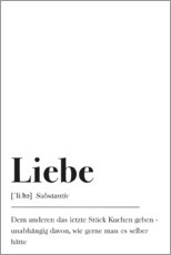 PVC print  Liebe Definition (German) - Pulse of Art