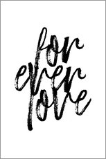 Canvas print  Forever love quote - Martina illustration