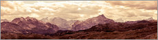 Acrylglas print  Dolomites shrouded in bronze - Art Couture
