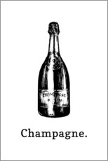 Acrylglas print  Champagne bottle - Typobox