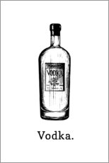 Hout print  Vodka bottle - Typobox