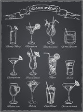 Canvas print  Classics cocktails - Typobox