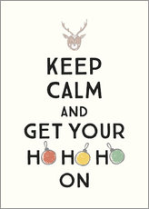 Canvas print  Keep calm and get your Hohoho on - Typobox