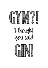 Premium poster  Gym or Gin - Typobox