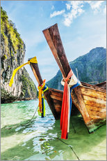 Acrylglas print  Longtail boats in Maya Bay