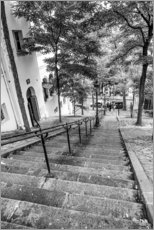 Acrylglas print  Endless steps to Montmartre