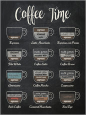 Acrylglas print  Coffee time - Typobox