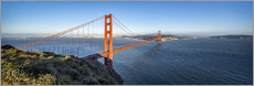 Canvas print  Golden Gate Bridge, San Francisco, USA - Jan Christopher Becke