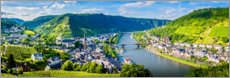 Acrylglas print  Mosel valley in the sunshine - Art Couture
