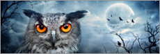 Acrylglas print  Owl in the moonlight - Art Couture