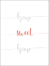 Hout print  Home sweet home - Typobox