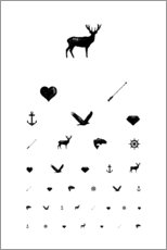 Acrylglas print  Eye test icons - Typobox