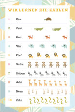 Premium poster  We learn the numbers (German) - Kidz Collection
