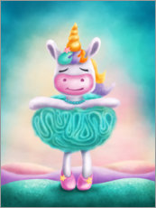Premium poster Unicorn as a ballet dancer