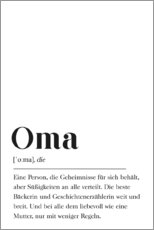 PVC print  Oma Definitie (Duits) - Pulse of Art