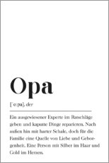 Premium poster  Opa Definition (German) - Pulse of Art