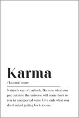 Gallery print  Karma Definition - Pulse of Art